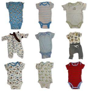 Baby Boy 11 Piece Bundle Size 0-3
